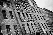 Nashville Tennessee Metal Prints - front street warehouse buildings on first avenue Nashville Tennessee USA Metal Print by Joe Fox