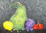 Food And Beverage Mixed Media Originals - Fruit by Paula Weber