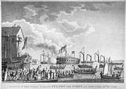 American City Prints - Fulton Steam Frigate, 1814 Print by Granger