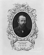 Photo-realism Photos - Fyodor Dostoyevsky, Russian Author by Photo Researchers