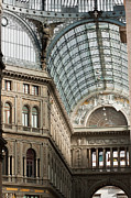 Outdoor Airport Posters - Galleria Umberto Poster by Andrew  Michael