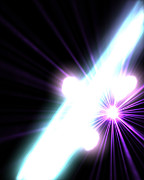 Radiating Light Digital Art - Gamma Rays In Galactic Nuclei by Stocktrek Images