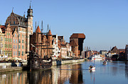 Historic Housing Prints - Gdansk in Poland Print by Artur Bogacki