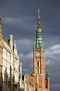 Town Clock Tower Posters - Gdansk Old Town Poster by Artur Bogacki