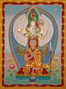 Thangka Framed Prints - Gelongma Palmo Framed Print by Sergey Noskov