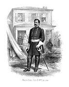 History Drawings Prints - General George McClellan Print by War Is Hell Store