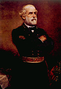 Civil Framed Prints - General Robert E. Lee 1807-1870 Framed Print by Everett