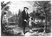 Colonial Man Photos - George Washington (1732-1799) by Granger