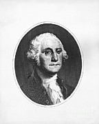 First President Framed Prints - George Washington, 1st American Framed Print by Photo Researchers