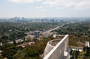 Los Angeles Skyline Digital Art Prints - Getty Museum Print by Carol Ailles