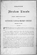 1863 Posters - Gettysburg Address, 1863 Poster by Granger