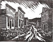 Towns Drawings - Ghost Town by Kevin Heaney