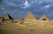 Giza Pyramids Print by Sami Sarkis