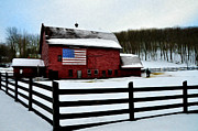 Barn Digital Art Prints - God Bless America Print by Bill Cannon