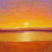 Acrylic Art Prints - Gold Sunset Print by Jaison Cianelli