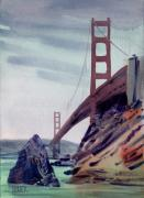 Golden Gate Paintings - Golden Gate by Donald Maier
