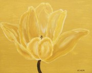 Print On Acrylic Posters - Golden Tulip Poster by Marsha Heiken