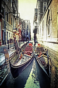 Narrow Focus Framed Prints - Gondolas Framed Print by Joana Kruse