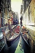 Gondolas Print by Joana Kruse