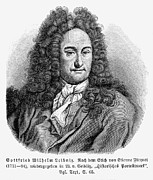 Enlightenment Posters - GOTTFRIED von LEIBNIZ Poster by Granger