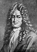 Rationalism Prints - Gottfried Wilhelm Leibniz, German Print by Science Source