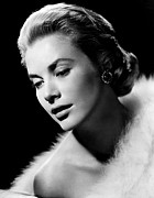 Kelly Framed Prints - Grace Kelly, 1955 Framed Print by Everett