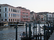Town Canal Framed Prints - Grand canal. Venice Framed Print by Bernard Jaubert