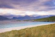 Outer Hebrides Framed Prints - Grass Covered Dunes, Sound Of Taransay, Traigh Rosamal, Isle Of Harris, Outer Hebrides, Scotland Framed Print by Tim Hurst