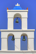 Bells Posters - Greek Chapel Poster by Joana Kruse