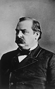 Featured Acrylic Prints - Grover Cleveland 1837-1908, U.s Acrylic Print by Everett