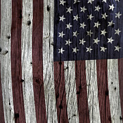Flag Of Usa Prints - Grungy Textured USA Flag Print by John Stephens