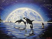 Orca Paintings - Guiding Light by Charles Vaughn