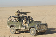 Automatic Posters - Gurkhas Patrol Afghanistan In A Land Poster by Andrew Chittock