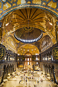 Aya Framed Prints - Hagia Sophia Interior Framed Print by Artur Bogacki