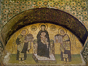 Enthroned Prints - Hagia Sophia: Mosaic Print by Granger