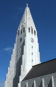 Hallgrimskirkja Church - Reykjavik Iceland  Print by Gregory Dyer