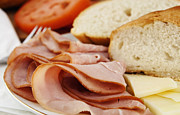 Sliced Bread Posters - Ham lunch spread Poster by Blink Images