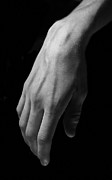 Isolated On Black Background Posters - Hands study Poster by Gabriela Insuratelu