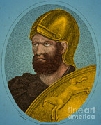 Portrait Woodblock Posters - Hannibal, Carthaginian Military Poster by Photo Researchers