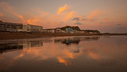Holiday Resort Framed Prints - Hastings Sunset Framed Print by Dawn OConnor