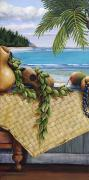 """indoor"" Still Life  Painting Framed Prints - Hawaiian Still Life Panel Framed Print by Sandra Blazel - Printscapes"
