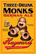Hayward Three Drunk Monks Print by John OBrien