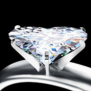 Color Image Jewelry - Heart Diamond by Setsiri Silapasuwanchai