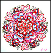 Perfect Drawings - Heart Mandala by Gladys Childers