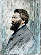 Novelist Framed Prints - Herman Melville (1819-1891) Framed Print by Granger