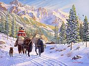 Snow Scenes Painting Prints - High Country Print by Howard Dubois