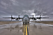 Planes Photos - High Dynamic Range Image Of A U.s. Air by Terry Moore
