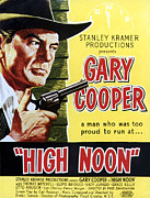 1950s Movies Photo Posters - High Noon, Gary Cooper, 1952 Poster by Everett