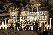 Niles District Prints - Historic Niles District in California Near Fremont . Visit Historical Niles District Sign . 7D10653  Print by Wingsdomain Art and Photography