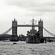 Warships Photos - HMS Belfast by Sharon Lisa Clarke